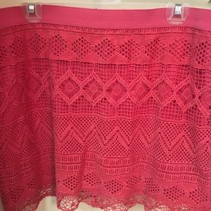 Abercrombie and Fitch pink overlay lace skirt 12